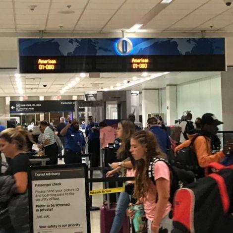 Flughafen Miami Transit Menschen