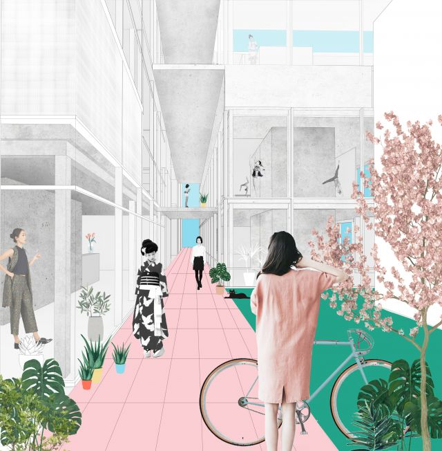 Visualisierung zum Entwurf in Straßburg