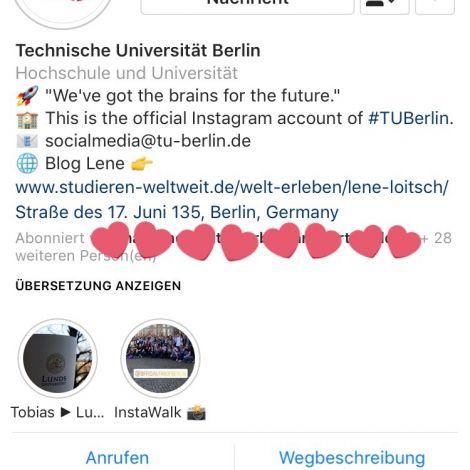 Mein Tag auf dem Instagram Profil der @TUBerlin ist zu Ende und damit bedanke…