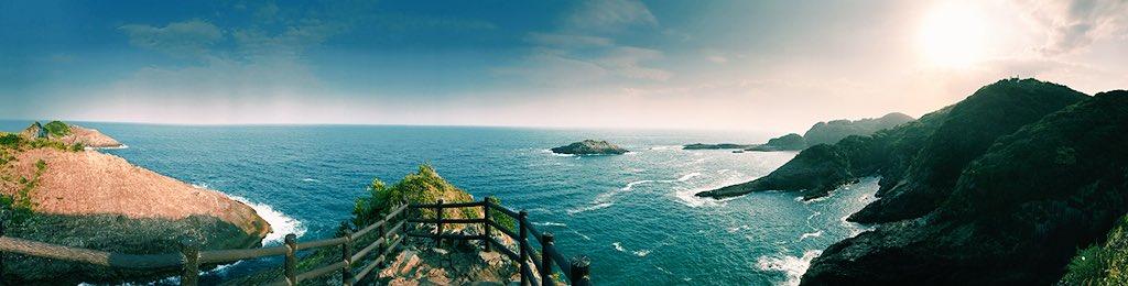 Im Süden Kyushus wird es fast schon tropisch - mit hellblauem Meer, steilen…