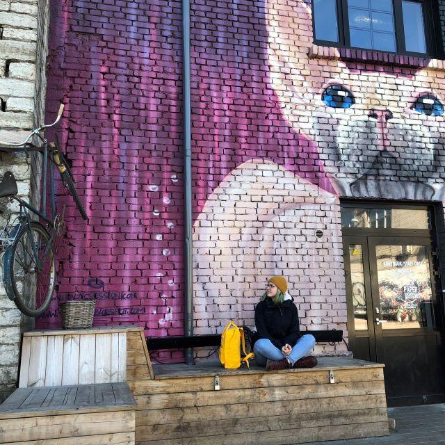 Graffiti einer Nacktkatze