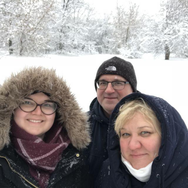 Schneelandschaft in Moskau