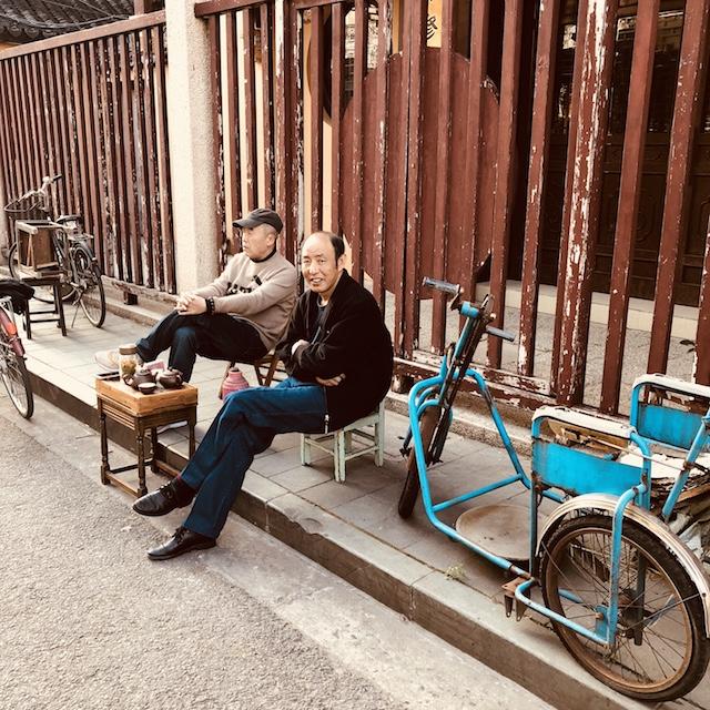 Straßenszene Shanghai