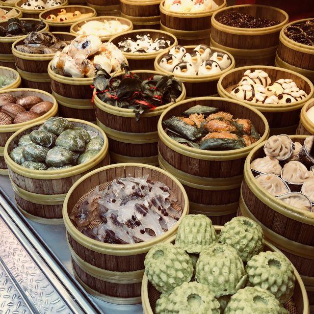 Verschiedene Dimsum in Shanghai