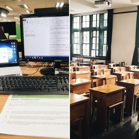 Arbeitsplatz vs. Vorlesungssaal