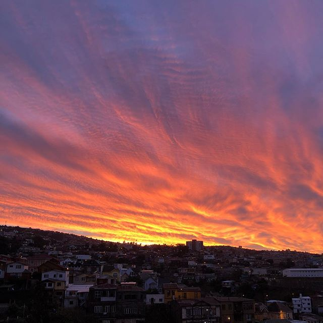 Auch nach 3 Monaten in #Valparaiso sitze ich noch jeden Abend auf der Terrasse…