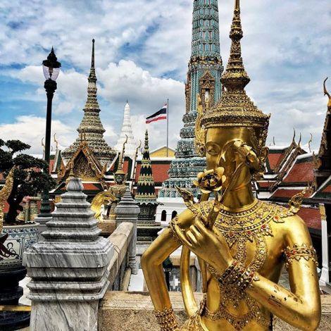 Die erste Touri-Attraktion nach einem knappen Monat: der Königspalast in…