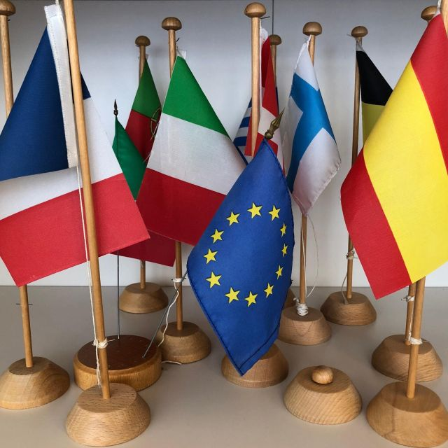 Flaggen der EU-Mitgliedsländer