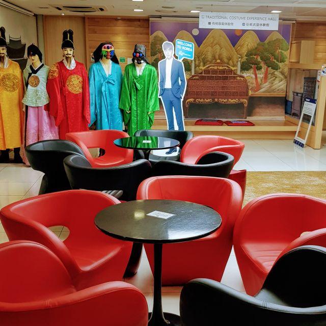 Gratis Hanbok tragen und Ruhezone im Zentrum