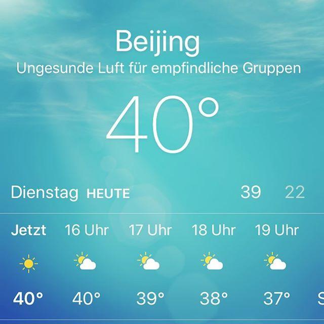 War heiß heute. Zum Glück ist hier alles klimatisiert, so kann ich in der…