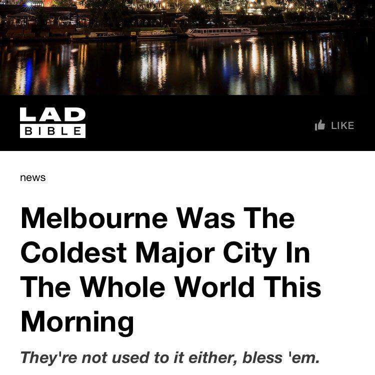 """Wenn nochmal jemand sagt """"ich dachte in Australien ist es warm""""…"""