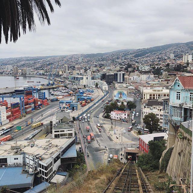 Valparaíso ist die einzige Stadt in Chile, die nicht wie ein Schachbrett…