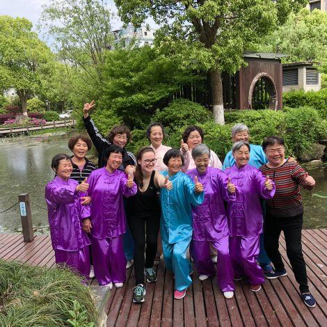 Die Tai Chi-Gruppe