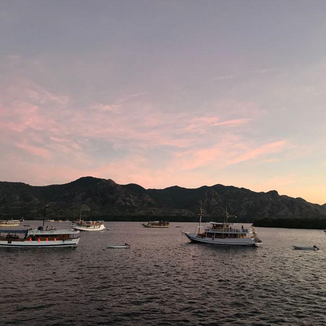 Der Ausblick nach dem Sonnenuntergang