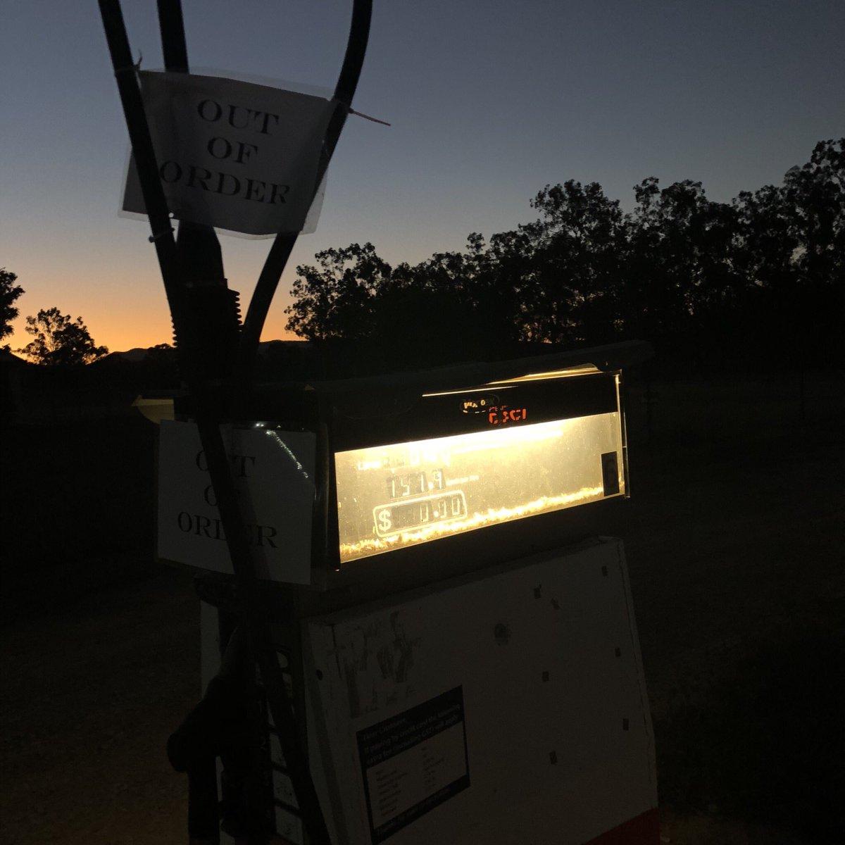 Australien ist, wenn der Tank fast leer ist, die Tankstelle kein Sprit mehr…