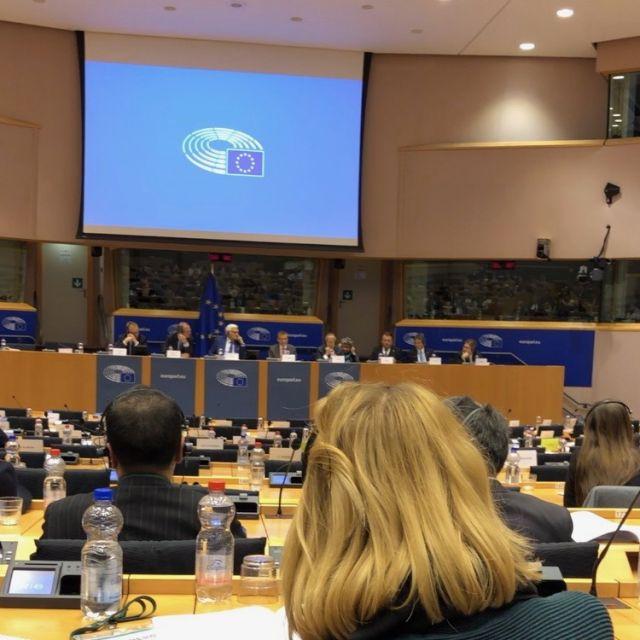 Veranstaltung im Sitzungssaal des europäischen Parlaments