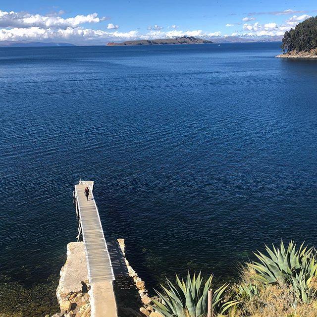 Am Titicaca-See, dem größten Süßwassersee Südamerikas. Absolut…