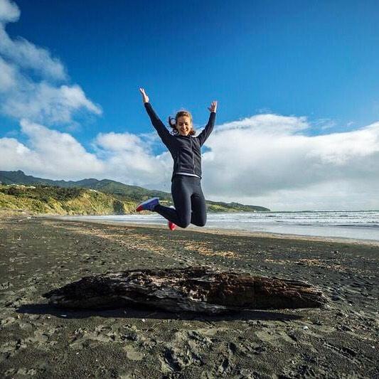 Ein Freudensprung 💛 auch wenn die Zeit in #neuseeland viel zu schnell…