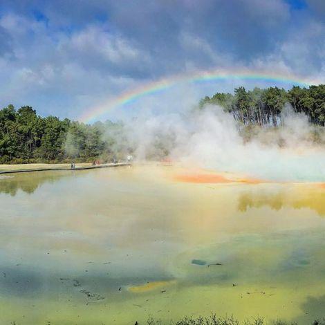 Zwischen Himmel und Hölle 💛 #waiotapu ist bekannt für seinen großen…