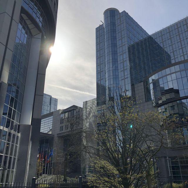 Gebäude des Europäischen Parlaments in Brüssel