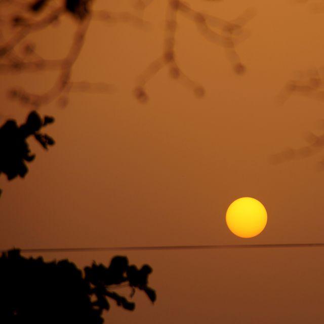 rote Sonne, Sonnenuntergang