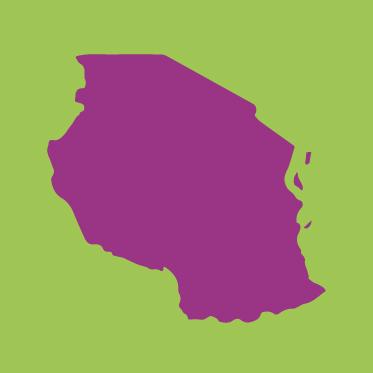 Kartenumriss Tansania