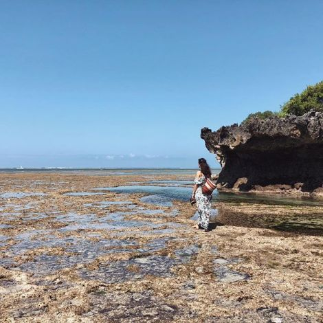 Bei Ebbe einmal um die Insel? Auf Mbudya geht das. Für unsere Umrandung…