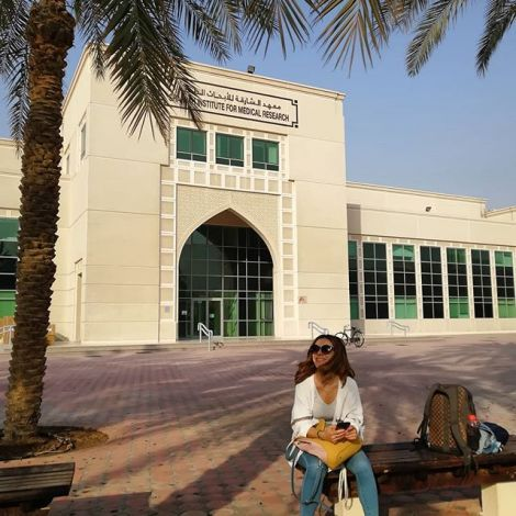Hier mache ich also mein Praktikum am Sharjah Institute for Medical Research…