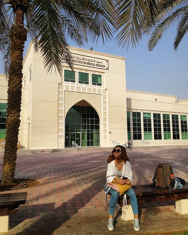 Hier mache ich also mein Praktikum am Sharjah Institute for Medical Research…
