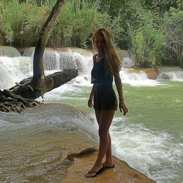 Der untere Teil des Kung Si Wasserfalls