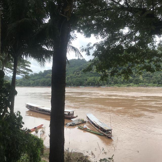 Der Fluss Mekong, braun verfärbt durch die Regenzeit