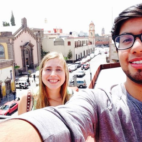 Tourist sein im Stadtzentrum von San Luis Potosí
