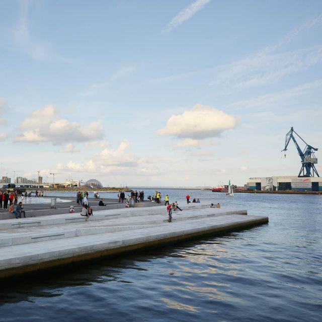 Der Hafen in Aarhus.