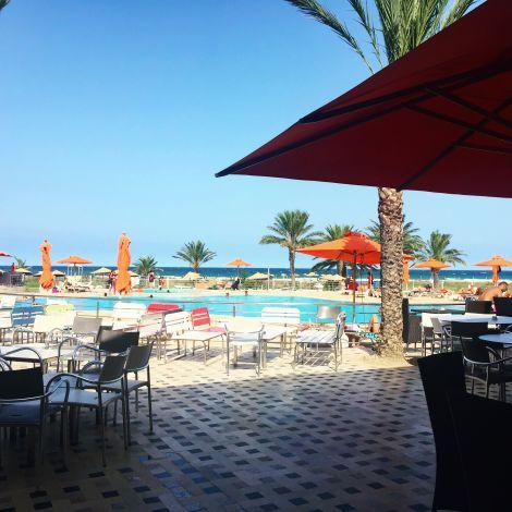 Außenbereich des Hotels in Tunesien