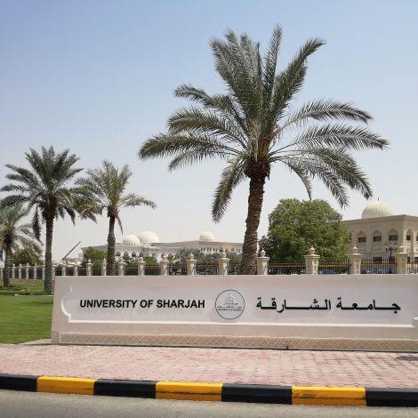 Hauptgebäuder der University of Sharjah