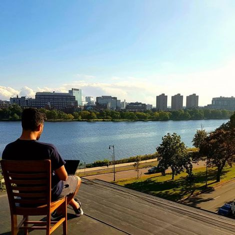 Best view of the Charlesriver, from the roof of the house I live in. This has…