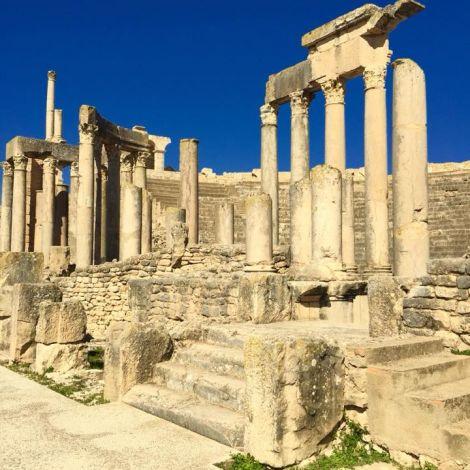 Eine Reiseempfehlung: Dougga, eine der prachtvollsten römischen Ruinenstädte.…