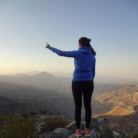 """""""Wo liegt die höchste Erhebung des Jebel Jais?"""" - """"Da, im Oman!""""👆Trotzdem…"""