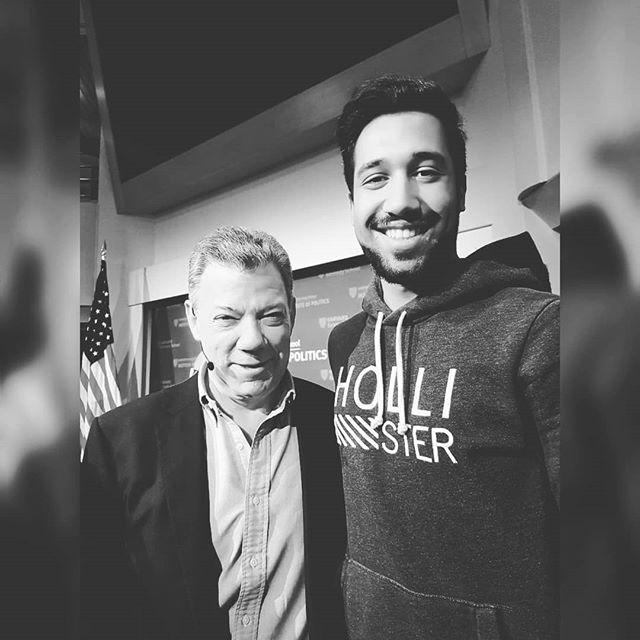 It was incredible to meet a person like Juan Santos (Nobel Peace Prize winner…