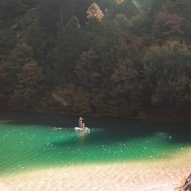 See Lago di Lamar und Stand Up Paddler