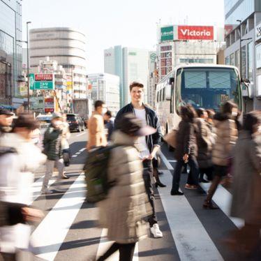 Dominik absolviert ein Praktikum in Tokio