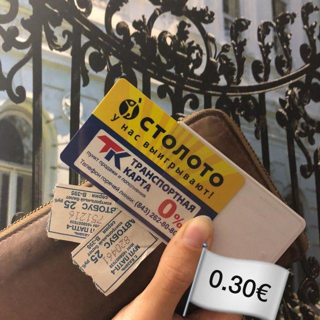 Bild von Fahrscheinen und der Transportkarte