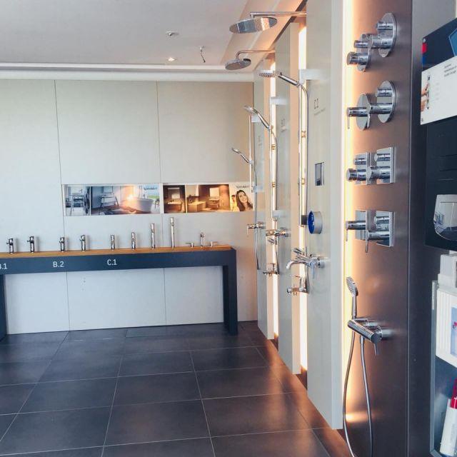 Der Showroom und Wasserhähne von der Duravit AG