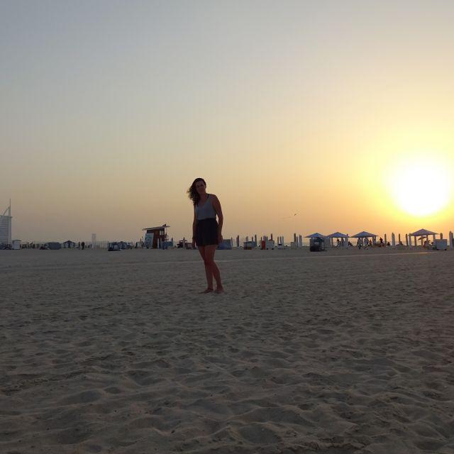 Sonnenuntergang am Kite Beach Dubai