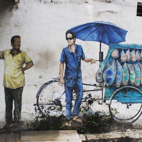 Schöne Straßenkunst, leckeres Essen und etwas Entspannung in Penang.…