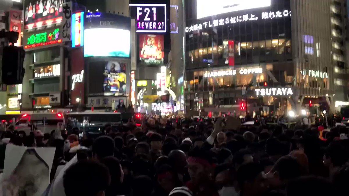 Die berühmte Kreuzung von #Shibuya wird zu #Halloween zum größten Treffpunkt…