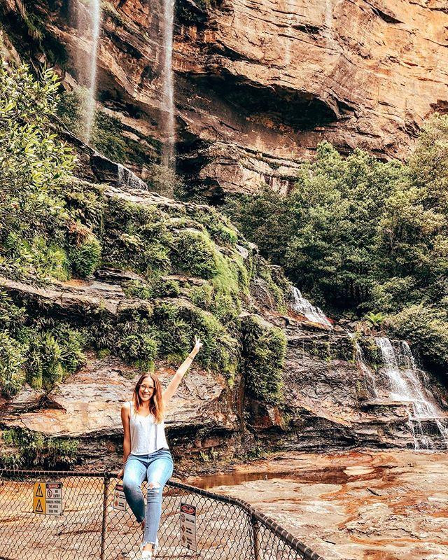 Wentworth Falls 💚 #inlovewithnature #rainforest #erlebees