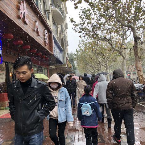 Schnee in Shanghai