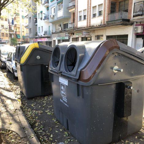Ein Müllcontainer in Spanien.