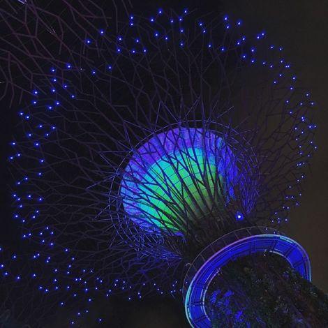 Weihnachtsbeleuchtung in Singapur.